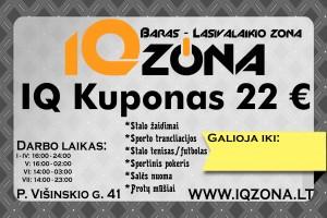 IQ kuponas22€